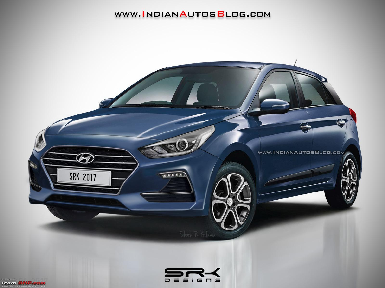 Hyundai Elite i20 Facelift being tested - Team-BHP
