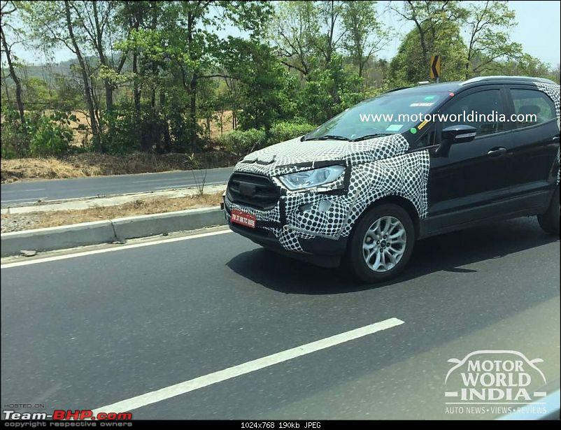 The 2017 Ford EcoSport Facelift caught testing in India. EDIT: Now launched at Rs 7.31 lakhs-34396221851_873c389599_b.jpg