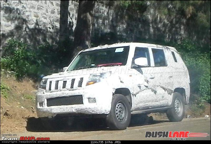 The Mahindra TUV300 Plus. EDIT: Selective deliveries started-mahindratuv500spied2.jpg