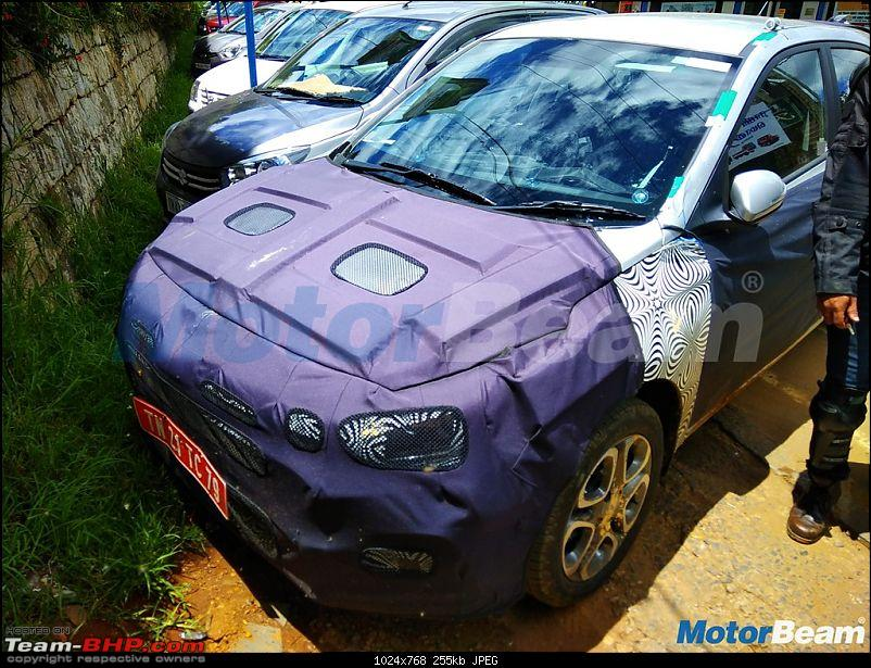 Hyundai Elite i20 Facelift being tested-hyundaielitei20frontspied.jpg