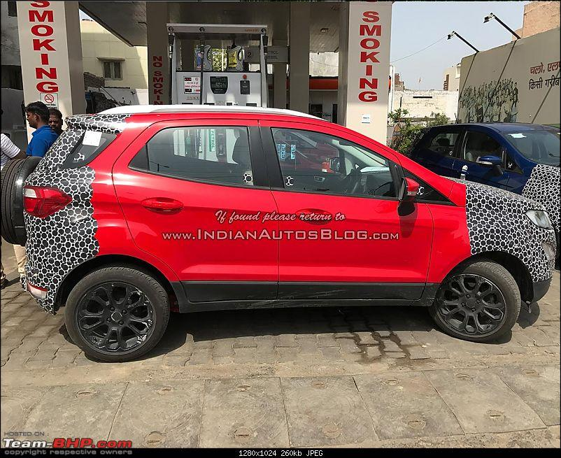 The 2017 Ford EcoSport Facelift caught testing in India-iabreadersspotsthe2017fordecosportinarpoadarred.jpg