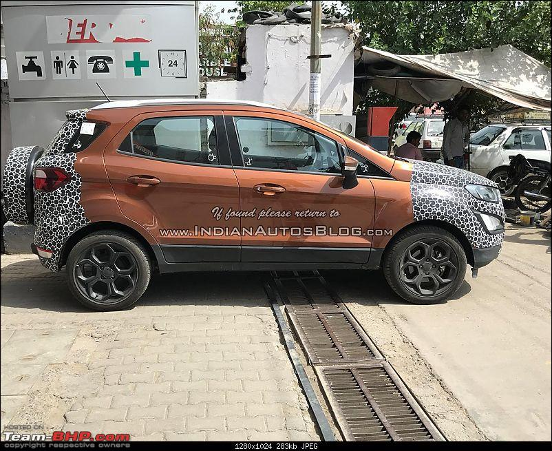 The 2017 Ford EcoSport Facelift caught testing in India. EDIT: Now launched at Rs 7.31 lakhs-iabreadersspotsthe2017fordecosportingoldenbronze.jpg