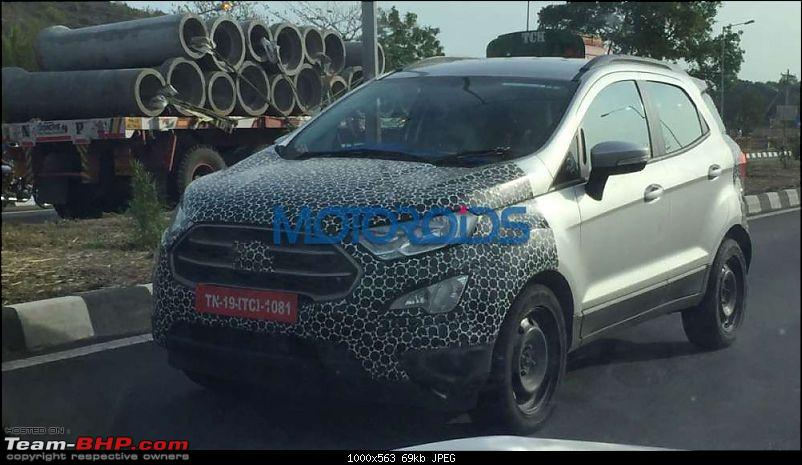The 2017 Ford EcoSport Facelift caught testing in India. EDIT: Now launched at Rs 7.31 lakhs-2017fordecosportfaceliftspiedtestingbasevariant.jpg