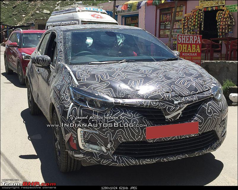 Renault teases Captur SUV; Now unveiled in India-renaultcapturrenaultkapturfrontthreequartersspyshotindia.jpg