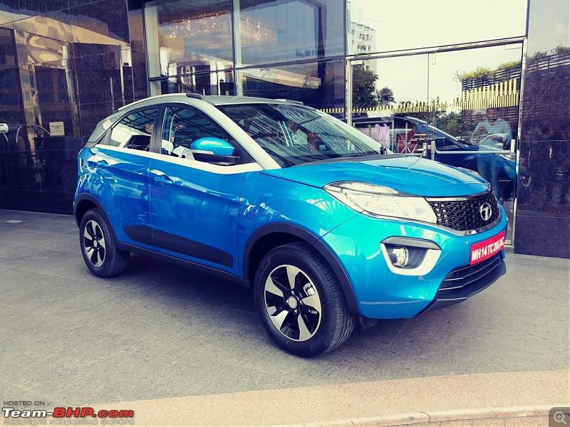 Tata's compact SUV, the Nexon-blue.jpg
