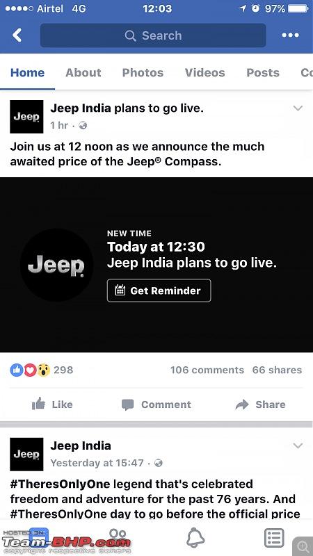 Meeting the Jeep Compass. EDIT: Priced between 14.95 to 20.65 lakhs-imageuploadedbyteambhp1501482877.403386.jpg