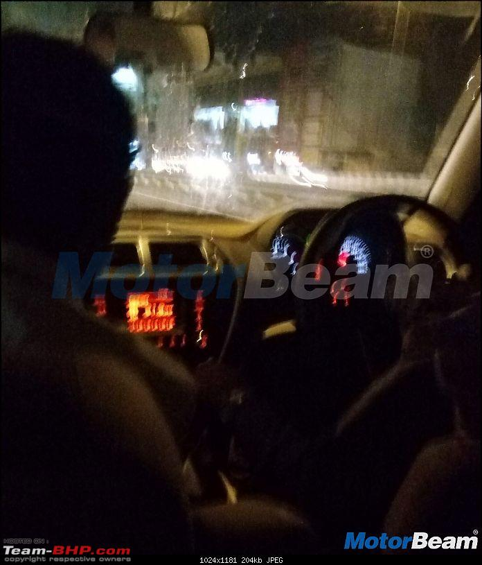 The Mahindra TUV300 Plus. EDIT: Selective deliveries started-mahindratuv500dashboardspied1.jpg