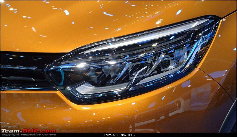 The Renault Captur SUV. EDIT: Launched @ Rs 9.99 lakhs-headlamp.jpg