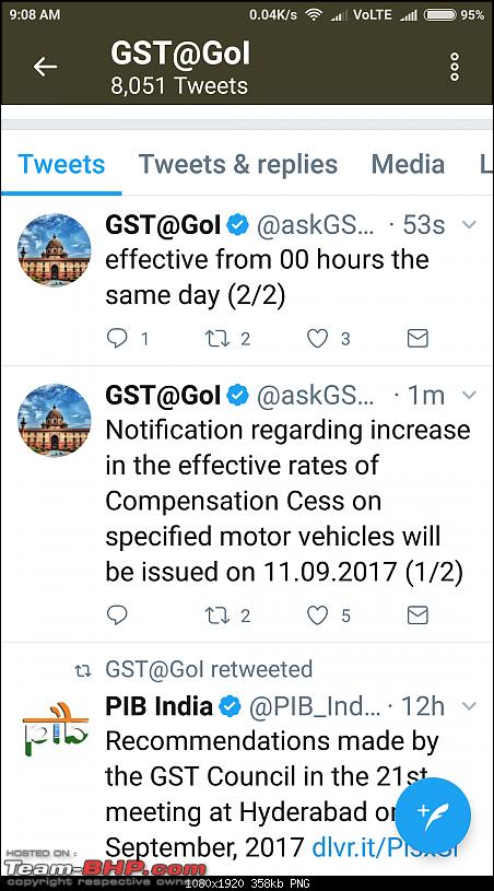 GST cess on midsize sedans, SUVs & luxury cars hiked-screenshot_20170910090856593_com.twitter.android.png