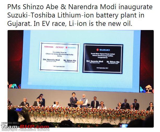 Suzuki, Toshiba & Denso tie-up to make automotive lithium-ion