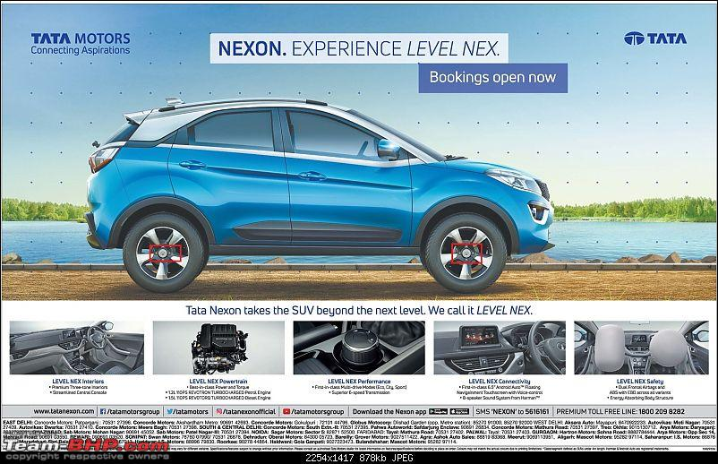 The Tata Nexon, now launched at Rs. 5.85 lakhs-nexonpaperad.jpg