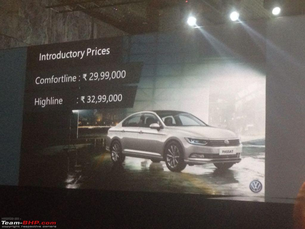 passat price in bangalore