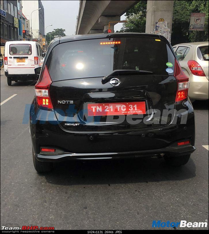 Rumour: Nissan to evaluate the Note e-Power for India-nissannoterearspied.jpg