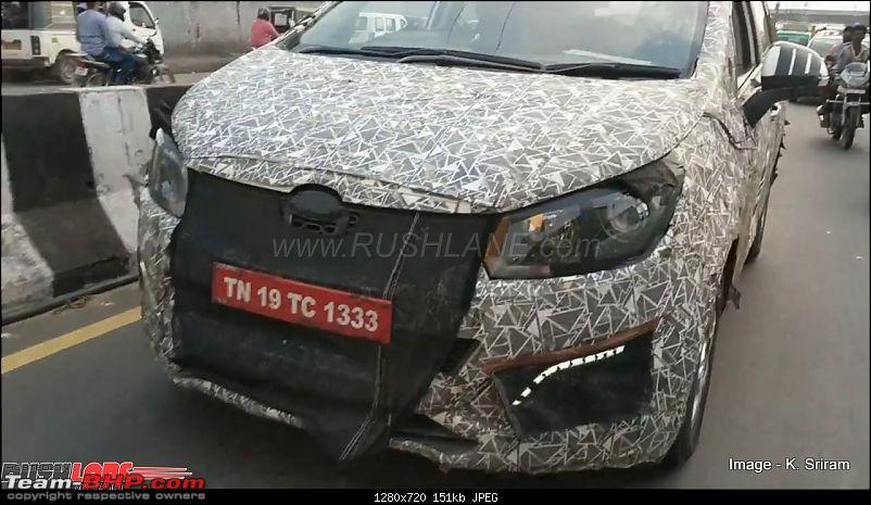 The Mahindra Marazzo MPV. EDIT: Now launched-mahindrampvspied1.jpg