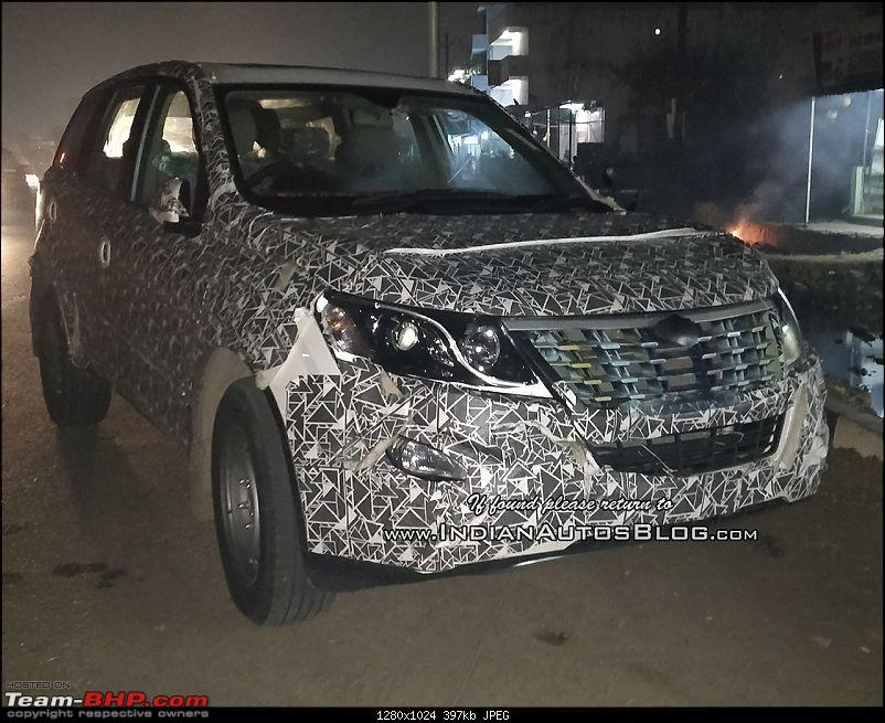 Rumour: Mahindra XUV500 facelift in the works, to get power hike. EDIT: Pics on page 6-2018mahindraxuv500faceliftfrontthreequarters.jpg