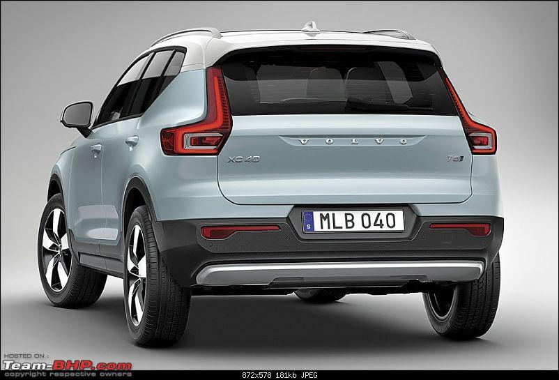 The Volvo XC40 SUV, now launched at 39.9 lakhs-volvoxc402018rear.jpg