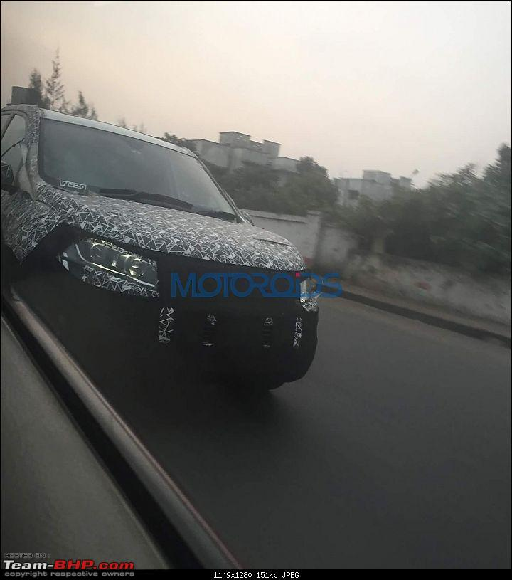 Mahindra XUV500 facelift coming, to get power hike. EDIT: Now launched @ Rs 12.32 lakhs-2018xuv500faceliftspyimages10.jpg
