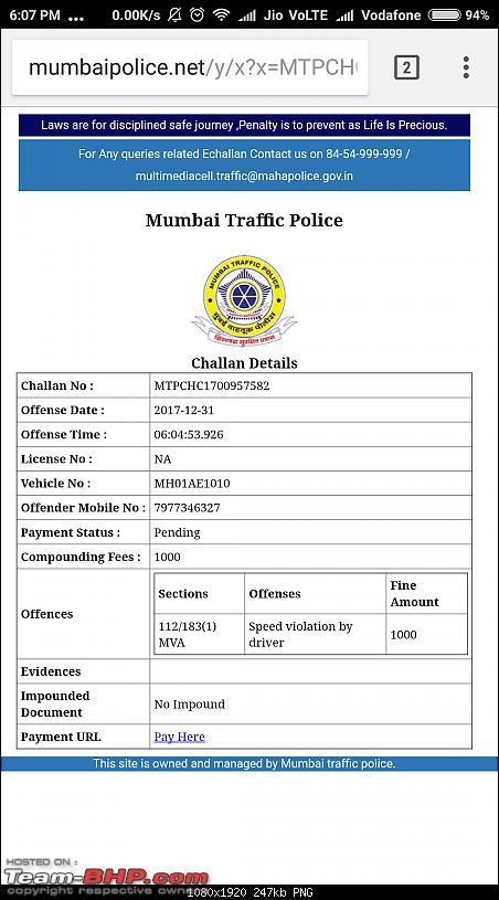 Mumbai Police's eChallans System for Traffic Violations. EDIT: Now Maharashtra-wide-screenshot_20171231180703886_com.android.chrome.png
