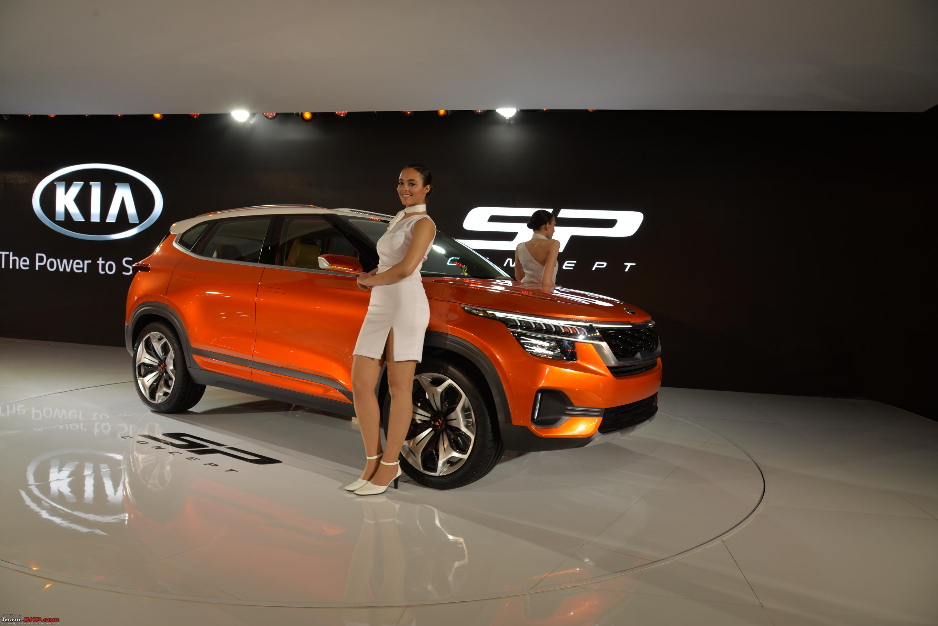 kia sp concept @ auto expo 2018 - team-bhp