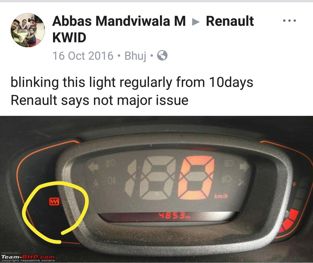 Renault Kwid Silent Recall - Faulty Accelerator Pedal