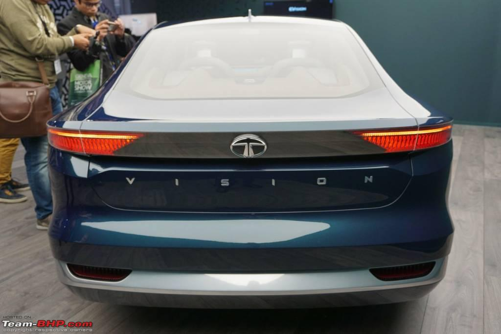 Tata evision sedan concept now unveiled at the 2018 for Tata motors electric car