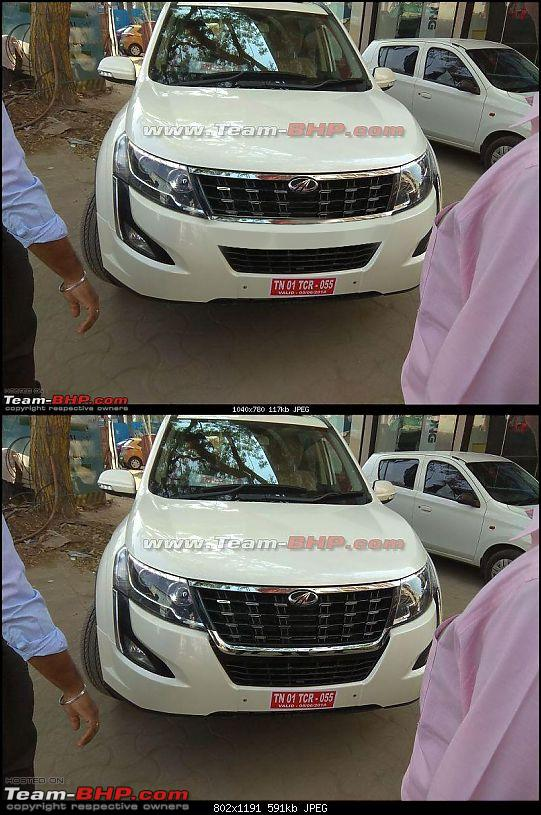Mahindra XUV500 facelift coming, to get power hike. EDIT: Now launched @ Rs 12.32 lakhs-xuvfrontmod.jpg