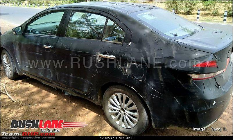 The Maruti Ciaz Facelift. EDIT: Now launched at ₹ 8.19 lakhs-newmaruticiazdriversleepspied6.jpg