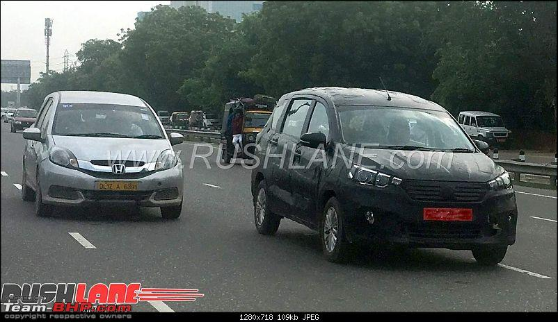 The 2018 next-gen Maruti Ertiga, now launched at Rs 7.44 lakhs-newmarutiertiga2018spiedindiahondamobilio1.jpg