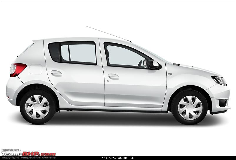 New hatchback spotted testing in Chennai. EDIT: It's the Datsun Go T-dacia_13sanderohb5_2b_sideview_glacierwhitesolid.png