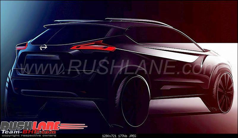 The Nissan Kicks Crossover. EDIT: Launched at Rs. 9.55 lakhs-nissankicksindiasketchlaunch1.jpg
