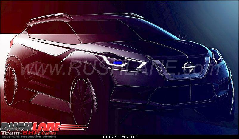 The Nissan Kicks Crossover. EDIT: Launched at Rs. 9.55 lakhs-nissankicksindiasketchlaunch2.jpg
