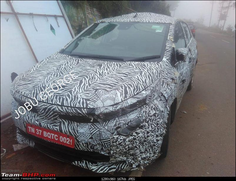 Tata developing a premium hatchback, the Altroz. Edit: Launched at 5.29 lakh.-tata45xfrontthreequartersspyphoto82ec.jpeg