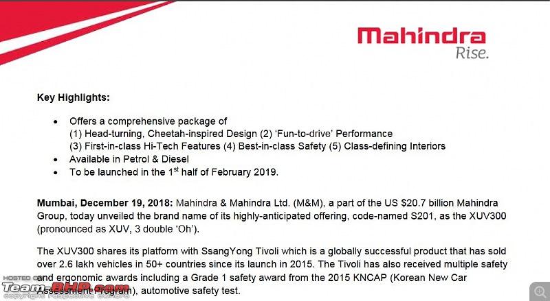 The Mahindra XUV300, aka Ssangyong Tivoli. Edit: Launched @ 7.9 lakhs-4.jpg