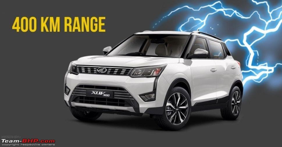 Mahindra Xuv300 Electric To Get 350 400 Km Range Team Bhp