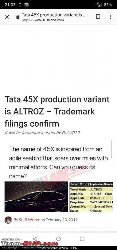 Tata developing a premium hatchback, the Altroz. Edit: Launched at 5.29 lakh.-screenshot_20190223210325.jpg