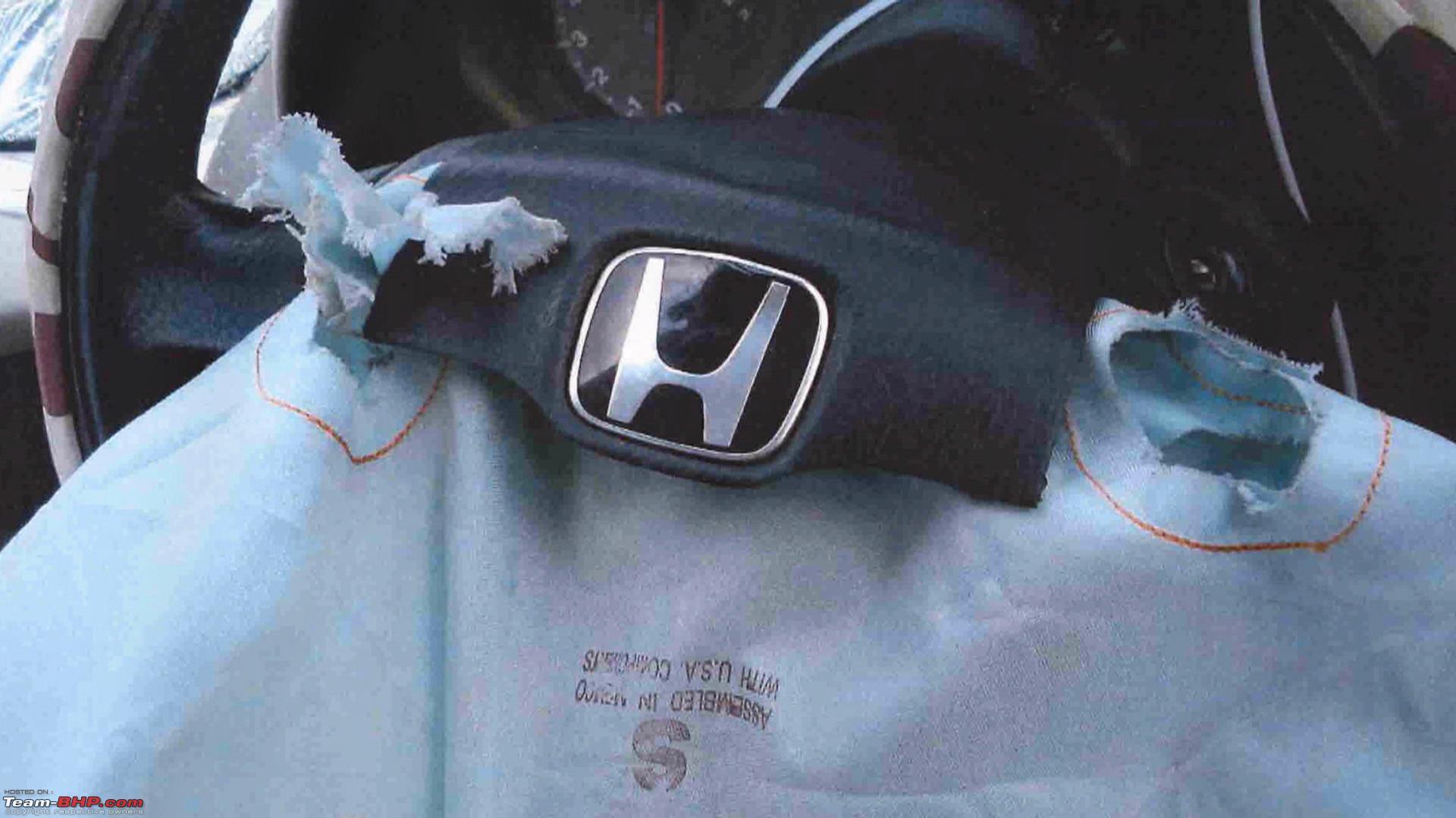 Honda Accord recalled over faulty Takata airbag inflators