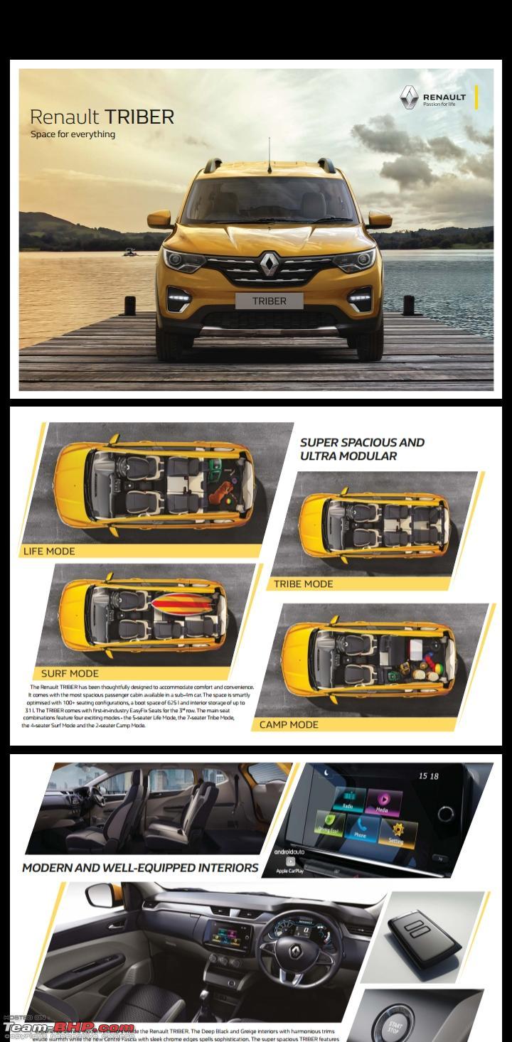Renault Triber, the Kwid-based MPV - Page 8 - Team-BHP