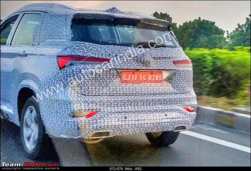 6-seater MG Hector Plus spotted testing. EDIT: Launched at Rs. 13.49 lakh-mg-hector-6-seater-back.jpg