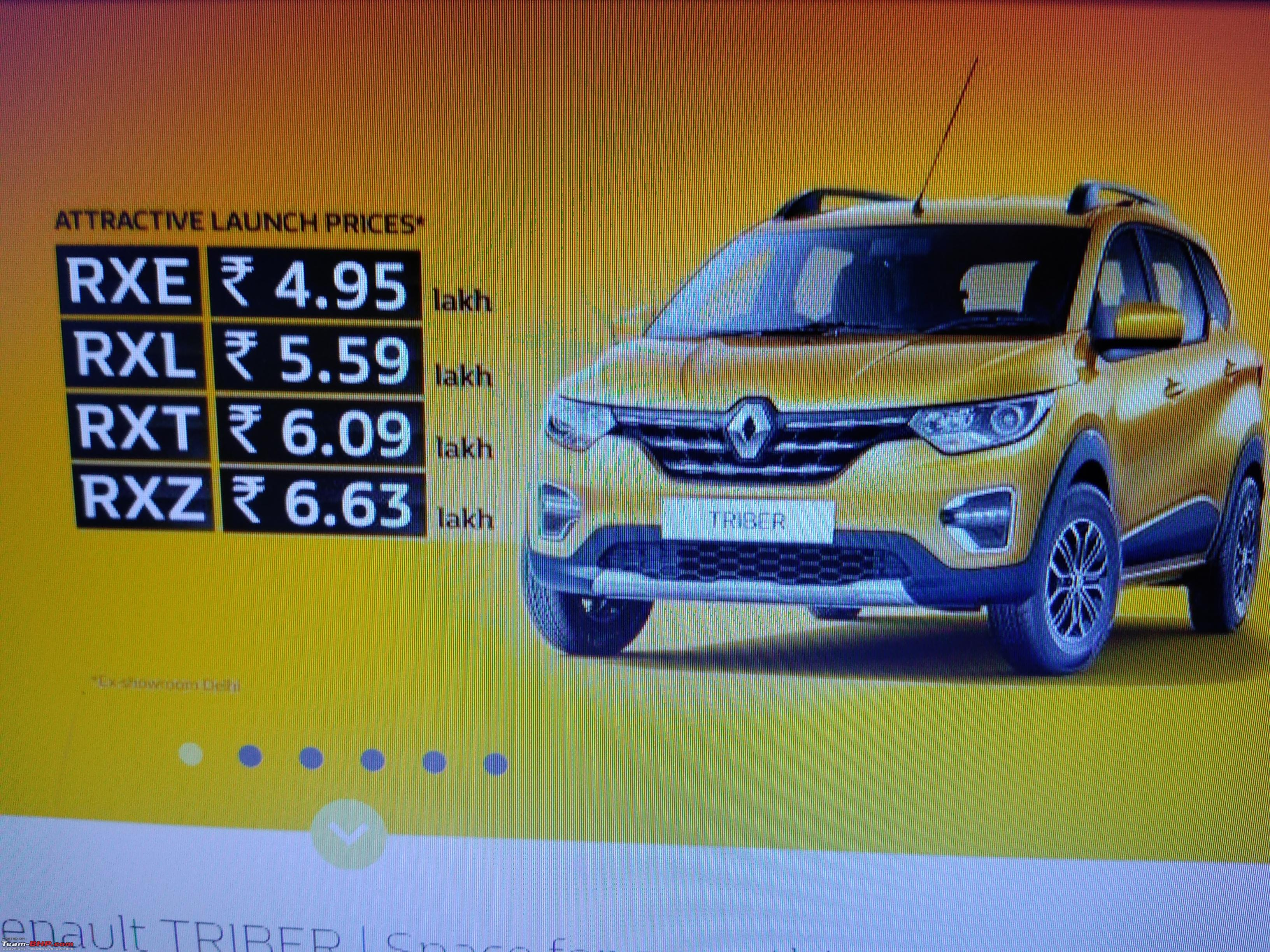 Renault Triber The Kwid Based Mpv Edit Launched At Rs 4 95 Lakhs Page 48 Team Bhp