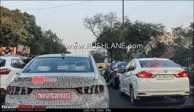 Scoop! 5th-gen Honda City spotted testing in India EDIT: Launched at Rs. 10.9 lakhs!-2020hondacityspieddelhitestingfrontrearled14.jpg