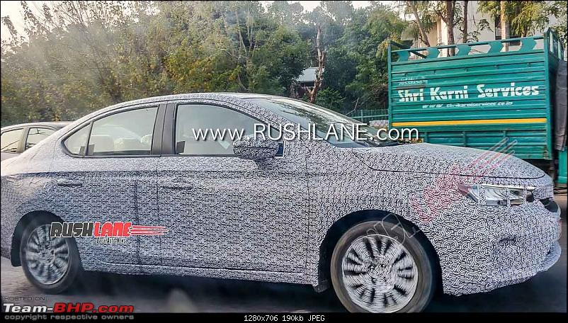 Scoop! 5th-gen Honda City spotted testing in India EDIT: Launched at Rs. 10.9 lakhs!-2020hondacityspieddelhitestingfrontrearled2.jpg