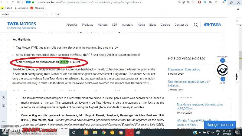 Tata developing a premium hatchback, the Altroz. Edit: Launched at 5.29 lakh.-tata-motors.jpg