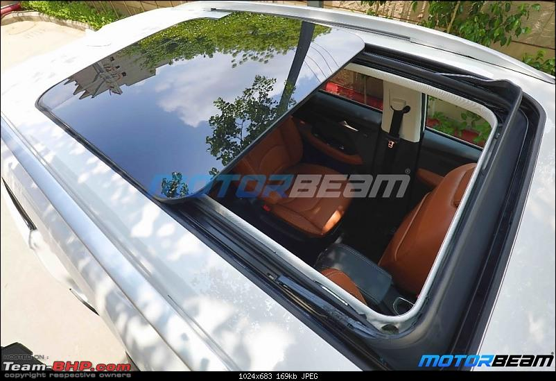 6-seater MG Hector Plus spotted testing. EDIT: Launched at Rs. 13.49 lakh-mghectorpluspanoramicsunroof.jpg