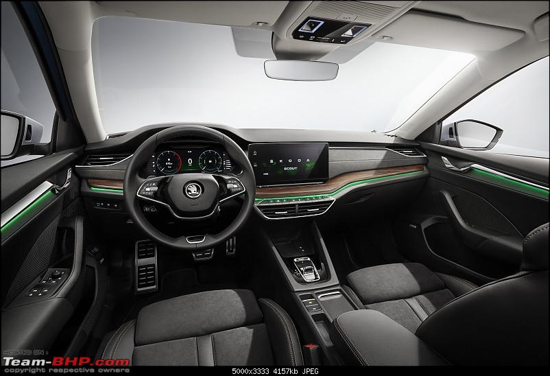 The 4th-gen Skoda Octavia. EDIT: India launch pushed to 2021-5octaviascout_dashboard2.jpg