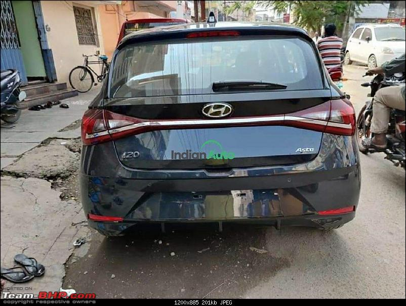 Third-gen Hyundai i20 spotted testing in Chennai. Edit: Launched at 6.79 lakhs-hyundaii20starrynightrearview5fba.jpeg