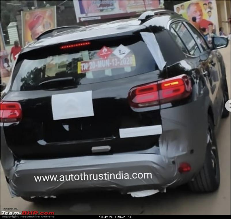Citroen C5 Aircross to be launched in India in 2021-2021citroenc5aircrossspiedindia2.png