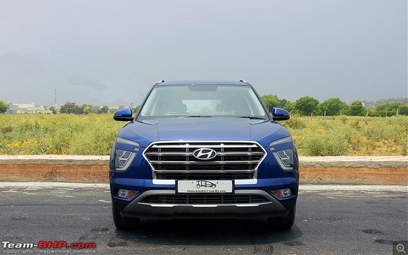 7-seater Hyundai Alcazar launching in June 2021. EDIT: Launched at Rs. 16.30 lakhs-2020hyundaicretaimagesfrontprofileblue147be.jpg