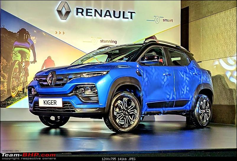 Renault Kiger Crossover launched at Rs. 5.45 lakh. EDIT: Driving report on page 19-20210805034700_20210218050444_renault_kiger_blue_front.jpg