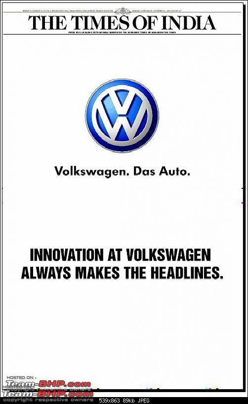 Times of India? Nope, VW of India. EDIT: Vibrating ad on 11 Sept 2012 (Pg 26)-toi.jpg