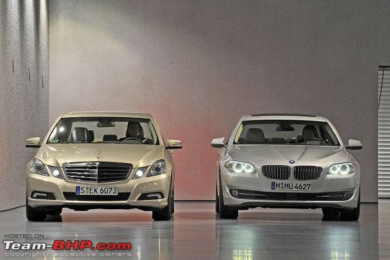 2009 mercedes benz e350 cdi avantgarde (w212) vs 2010 bmw 530d